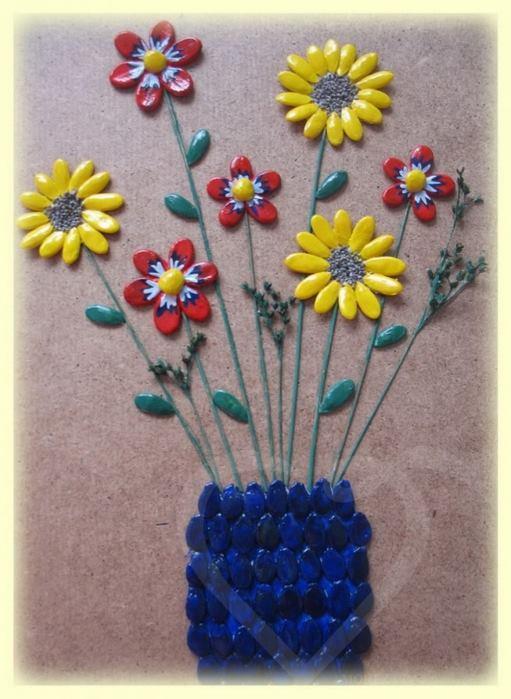 Направи си сам: Апликация със семена и идеи за мозайка (Снимки)