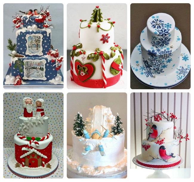 На Коледа и Нова година тортата трябва да има специална декорация
