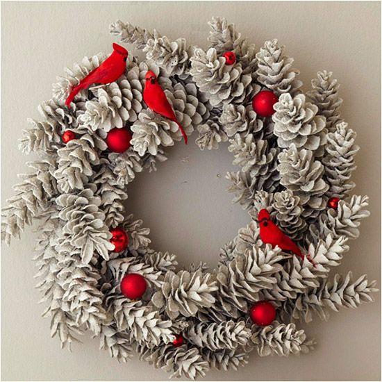 Идеи за Коледа: Направи си сам коледен венец (Снимки)
