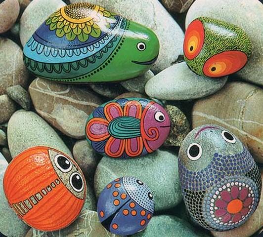 Направи си сам декорация камъни