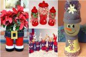 Декорация от саксии за Коледа и Нова година