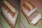 Шоколадов десерт с извара и банан