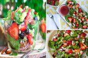 Салата от спанак, печени ядки и ягоди, обогатена с невероятен винегрет