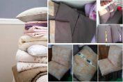 За да не изглежда разхвърляно: Оригинален начин за съхранение на одеялото