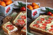 Необичайна рецепта за Солена торта със сирене и домати