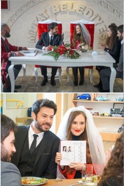 Азат и Гьонюл се женят във Вятърничав, актьорите са влюбени и в живота